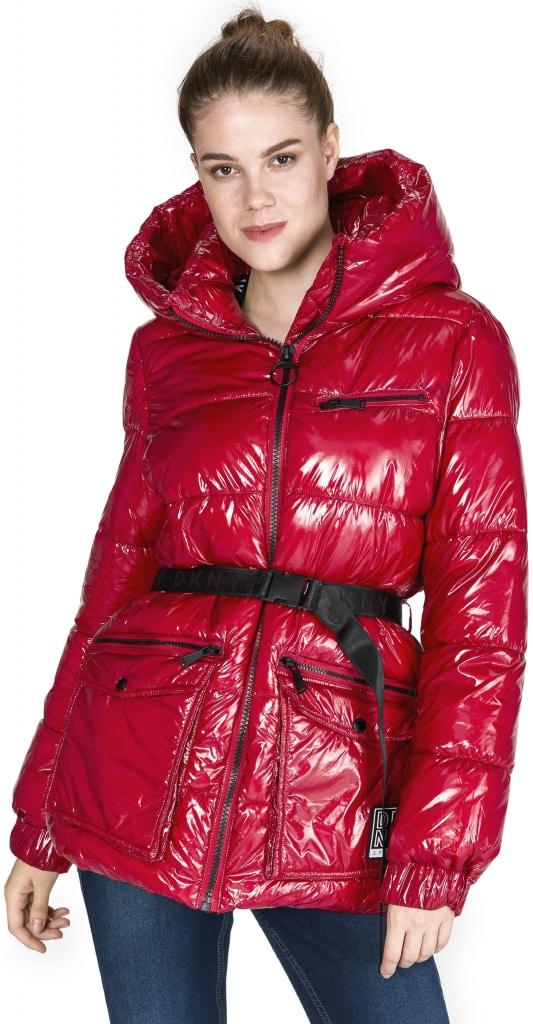 bunda přošívaná červená