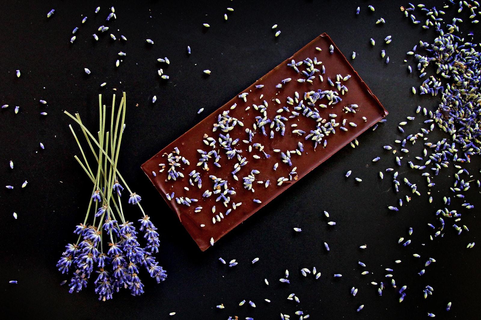 Vánoce, Čokoládov tabulka s příchutí levandule