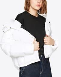 bílá dámská prošívaná bunda