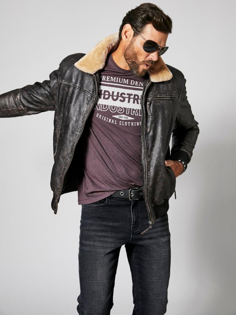Kožená bunda pro muže